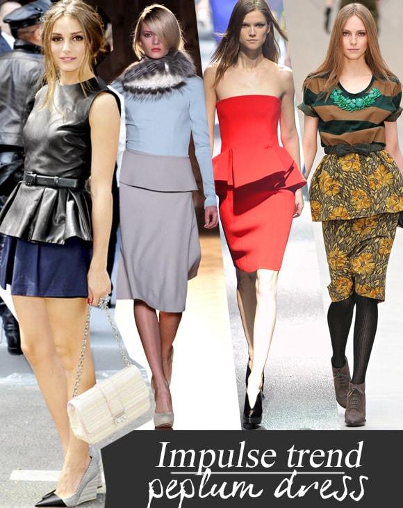 Fashion trend winter 2012: peplum dress