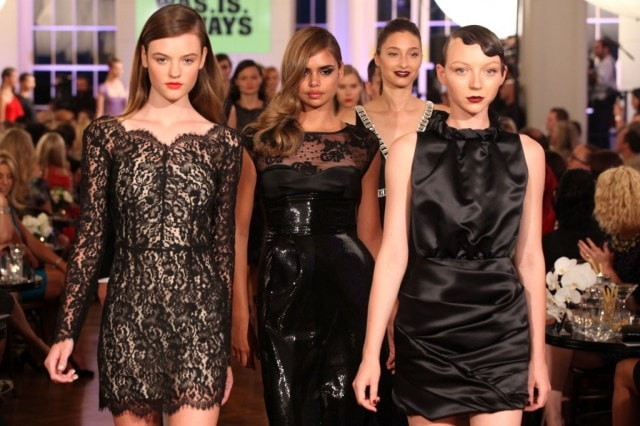 FW Hair Trends: Sleek Hair Pulled Back