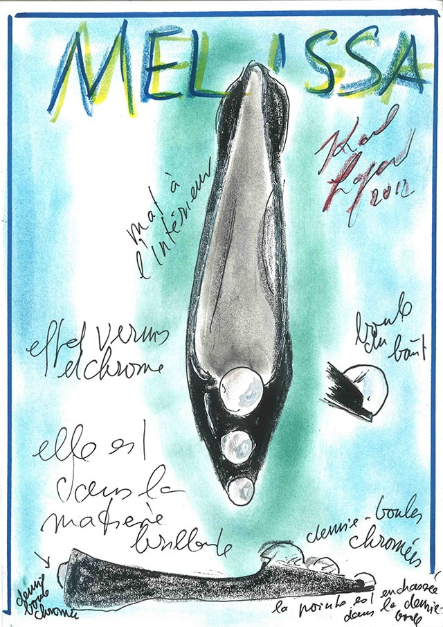 MELISSA GLAM + KARL LAGERFELD - sketch