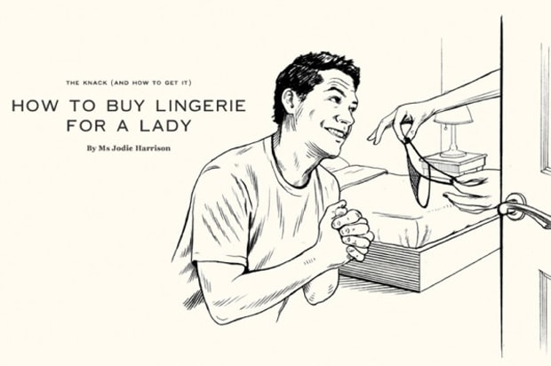How to buy lingerie for a lady