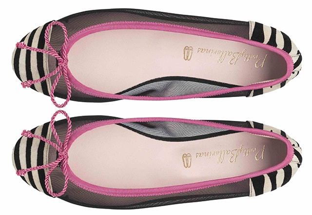 Marilyn black mesh zebra pink trim - pair