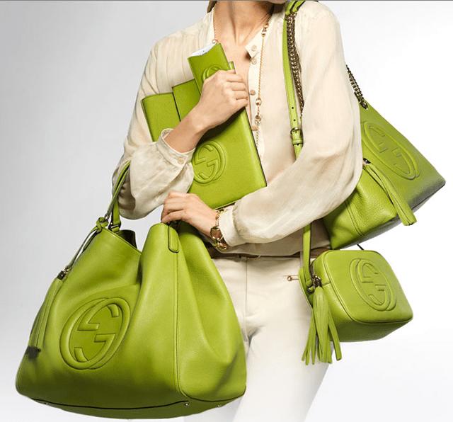 Gucci green, una collezione in esclusiva per la boutique online