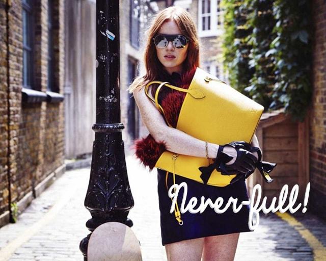 Neverfull Louis Vuitton: tanti nuovi colori per la nuova versione in pelle epi