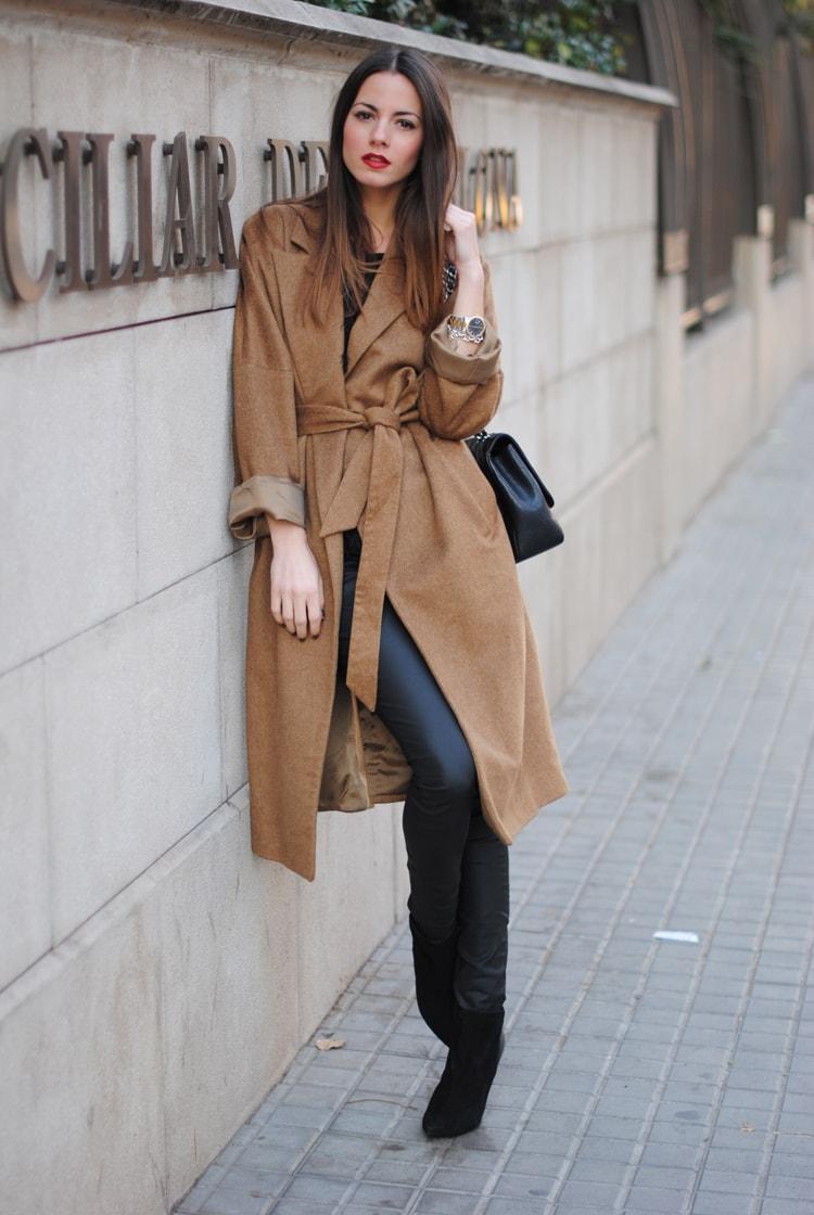 camel coat, zina fashionvibe, chanel bag