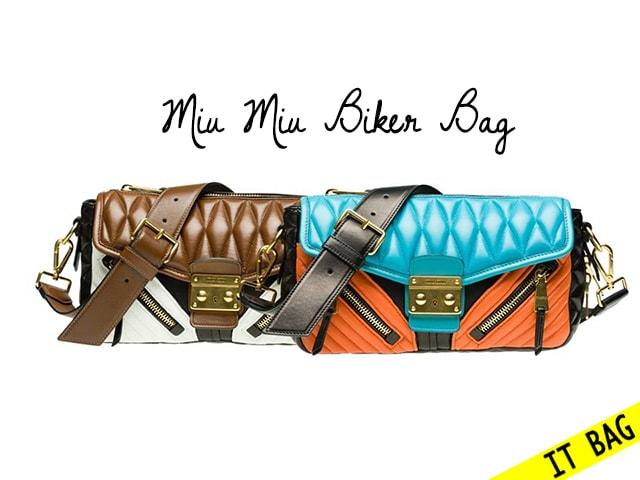 Miu Miu Biker Bag, la nuova IT Bag per l'A/I 2013-2014