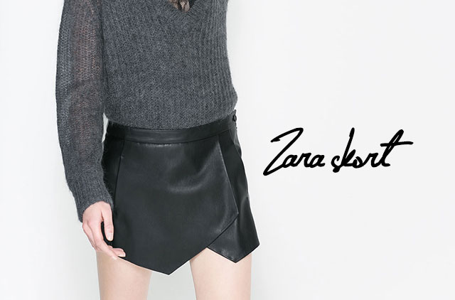 La skort di Zara torna anche per la primavera/estate 2014