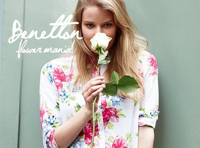 """Benetton, la collezione per la primavera 2014 punta sulla """"flower mania"""""""