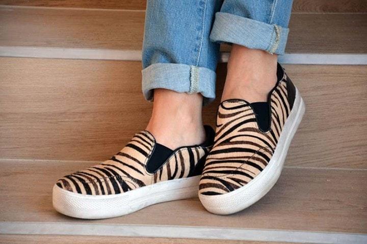 Jungle Zebra Cream, le slipon animalier firmate Ash