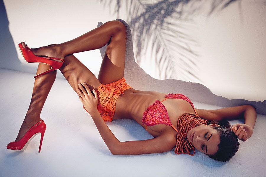 bikini arancione ricamato goldenpoint 2014