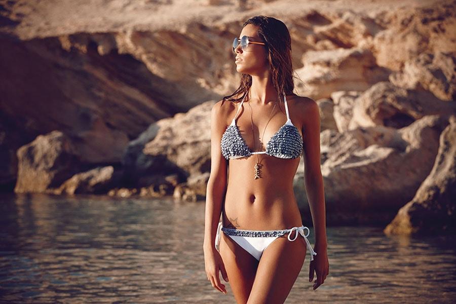bikini bianco nero goldenpoint 2014