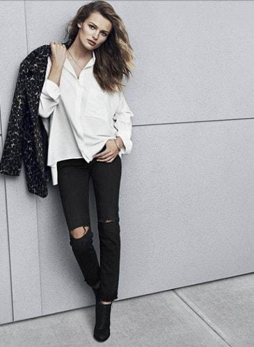 camicia-bianca-h&m-catalogo-autunno-2014