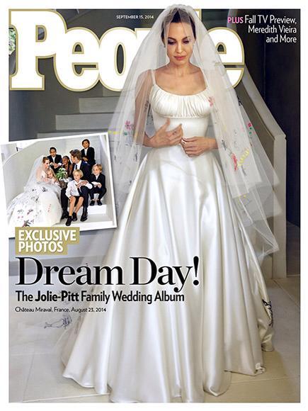 Matrimonio Angelina Jolie-Brad Pitt, le foto dell'abito di Angelina