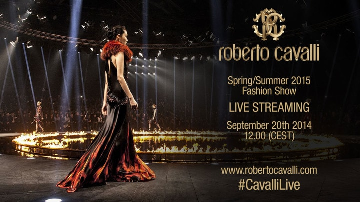 Live streaming sfilata Roberto Cavalli Primavera/Estate 2015