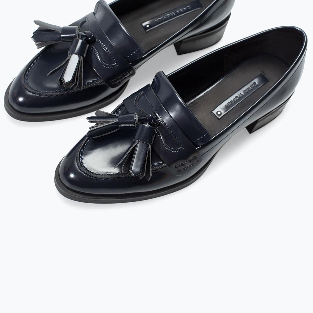 trend scarpe autunno 2014 mocassini con nappe zara