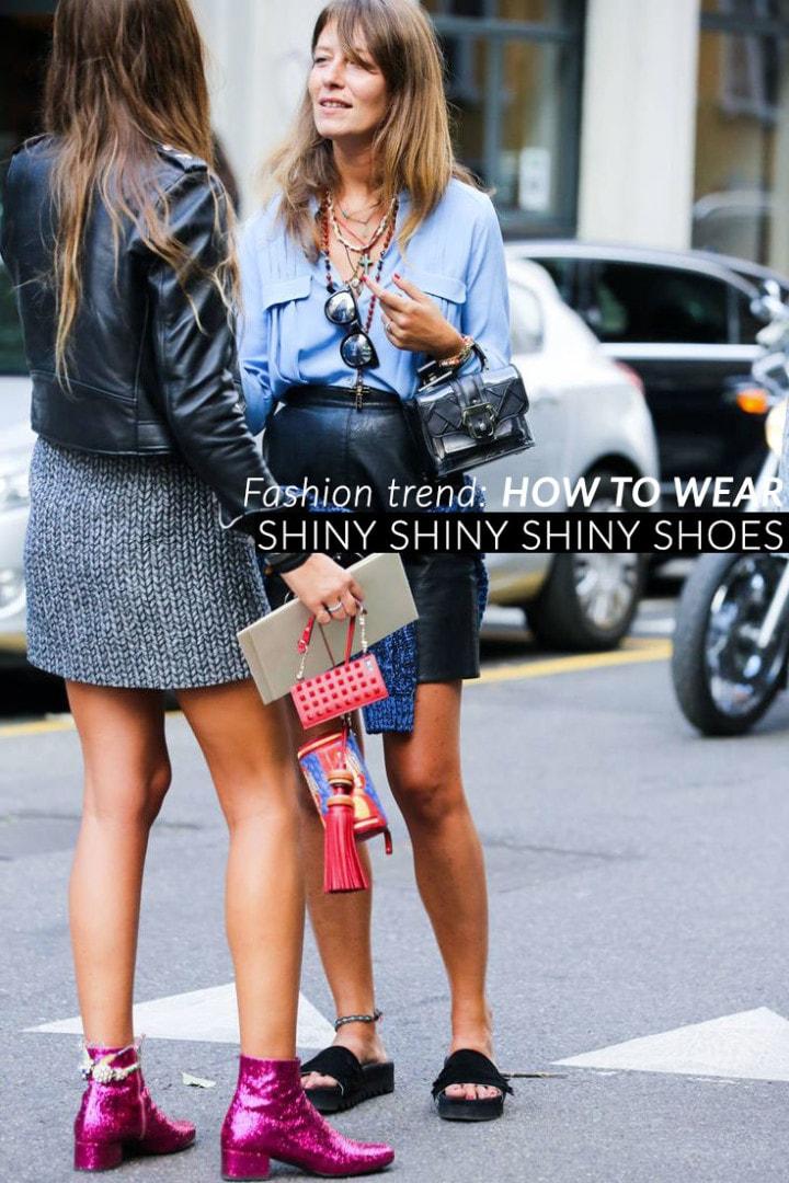 Trend scarpe autunno inverno 2014: glitter e shiny shoes