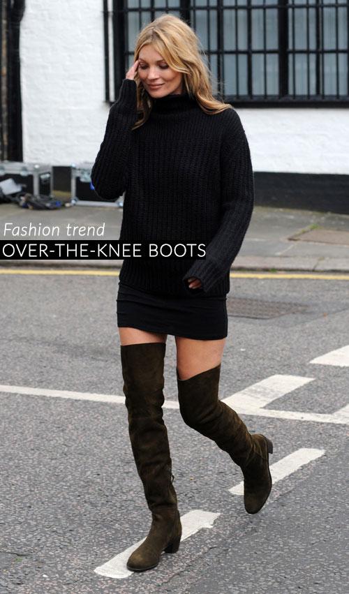 Trend scarpe autunno 2014: gli stivali alti o over-the-knee