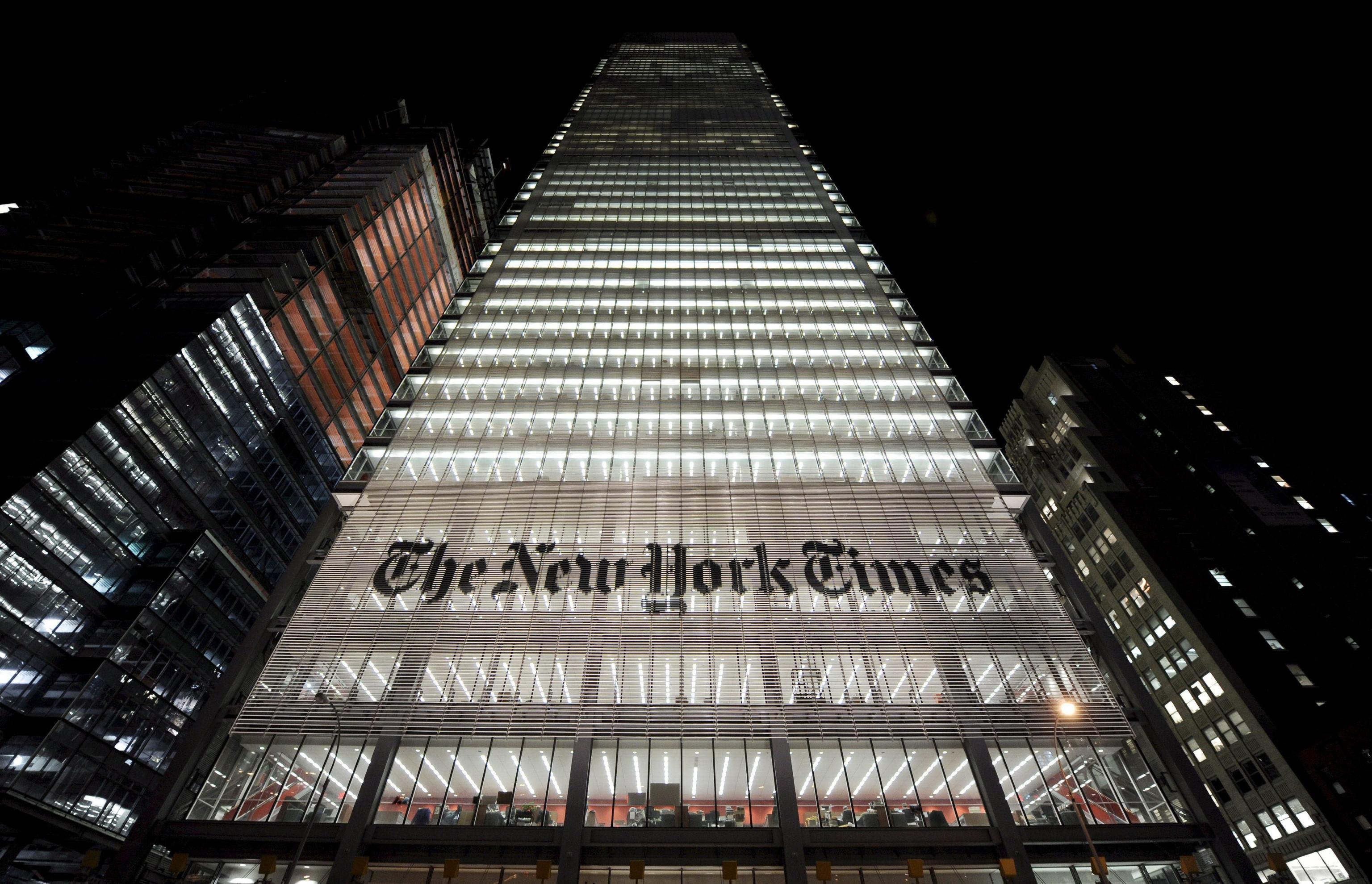 New York Times company income falls as it reshapes in digital age
