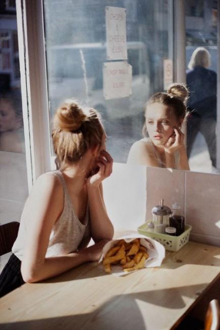 Donne, immagine, specchio