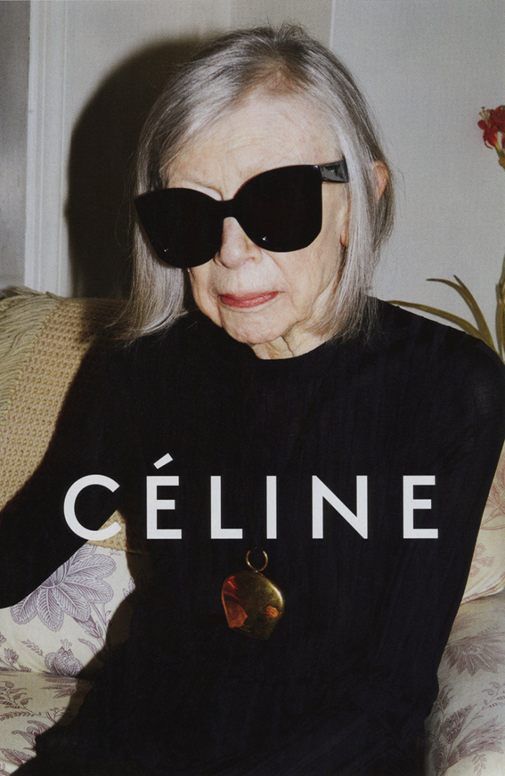 Céline, la campagna pubblicitaria per la P/E 2015 con l'80enne Joan Didion