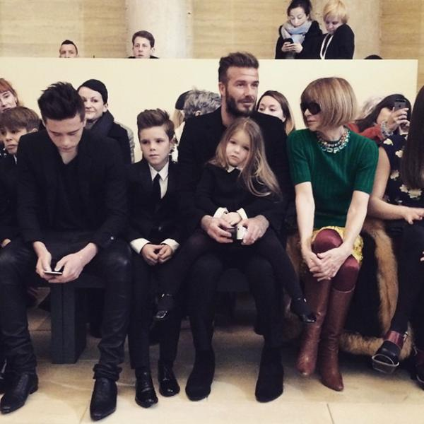 Bimbi nel front row: Beckham VS Kardashian
