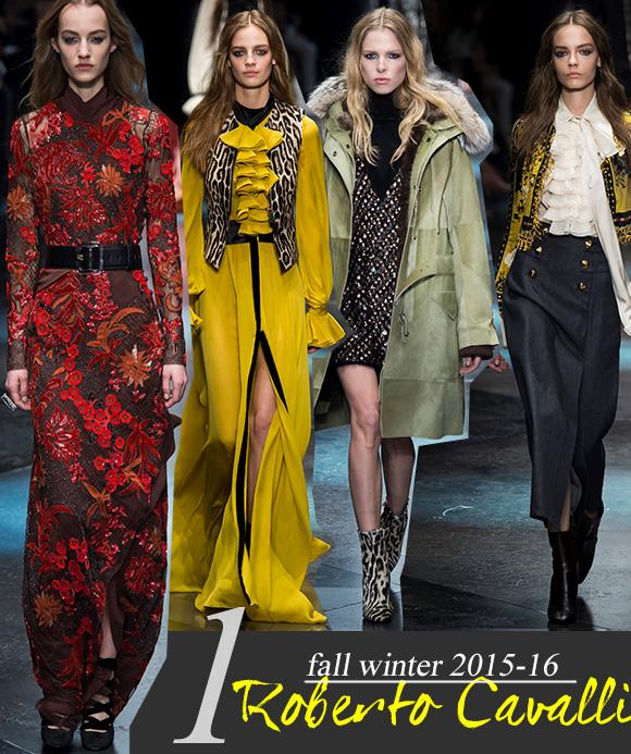 Milano Fashion Week F/W 2015-16: Roberto Cavalli, Ermanno Scervino, John Richmond, Just Cavalli