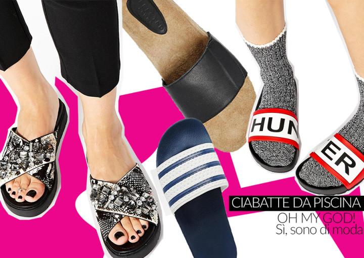 Trend scarpe estate 2015: ciabatte da piscina e flat sandals a fascia, 5 modelli scelti per voi