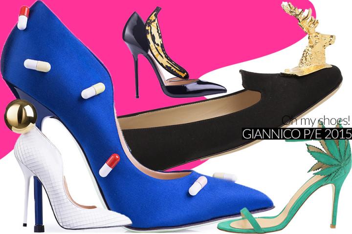 Giannico, le scarpe per la primavera 2015 un mix di arte e moda