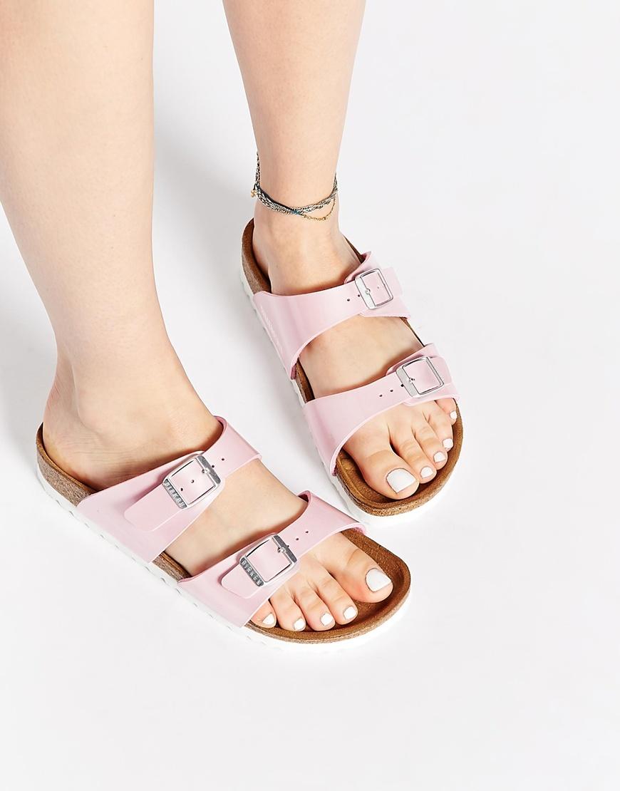 Birkenstock  modello Sydney, sandali piatti stile slider rosa perla