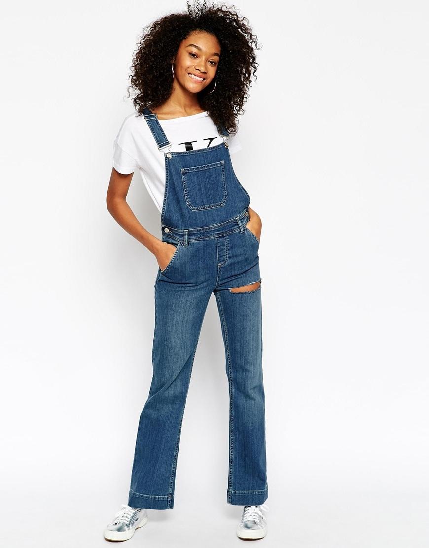 salopette jeans donna