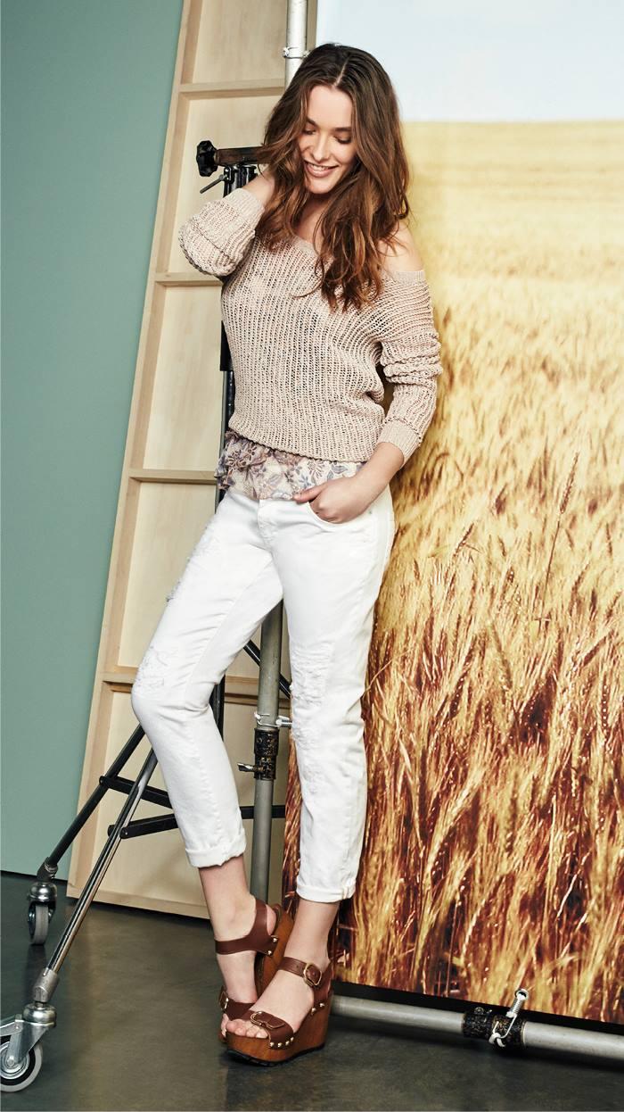 jeans bianchi motivi