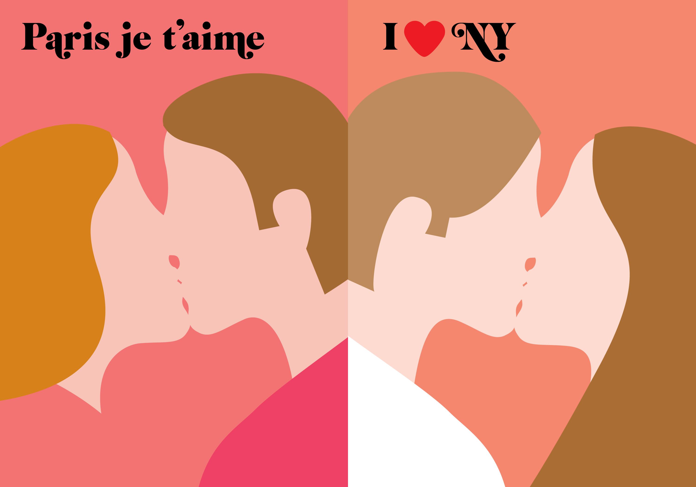 Parigi VS New York disegni