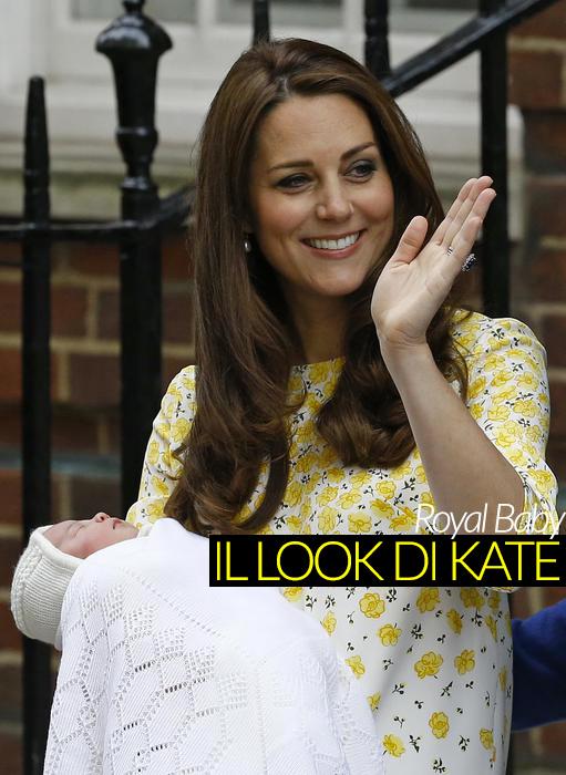 Il look di Kate con la Royal Baby:ecco di chi è l'abito