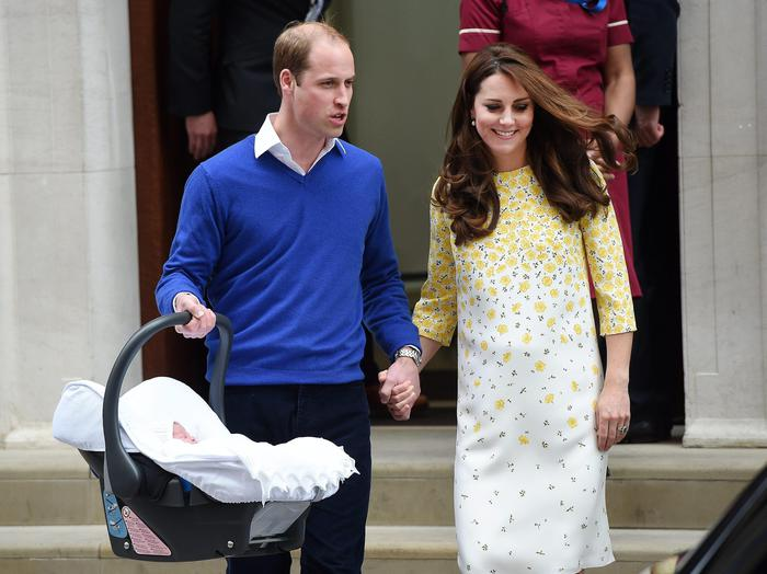 Kate Royal Baby look yellow dress