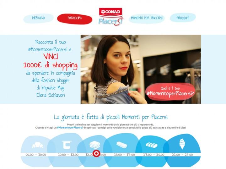 Partecipa al concorso #momentiperpiacersi di Conad Piacersi: vinci 1000 euro di shopping con me!