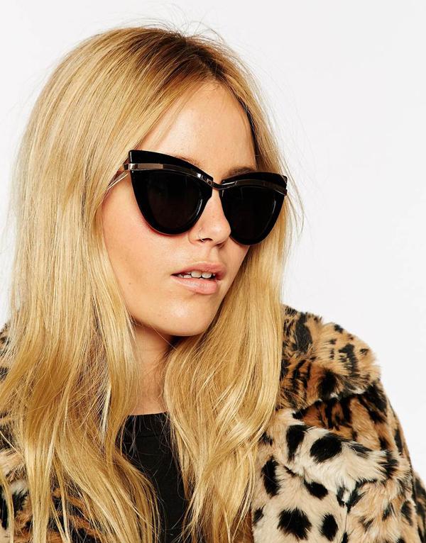 15 favolosi occhiali da sole rotondi colorati e da gatta per l 39 estate 2015impulse il fashion - Occhiali per truccarsi allo specchio ...