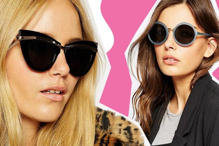 15 favolosi occhiali da sole rotondi, colorati e da gatta per l'estate 2015
