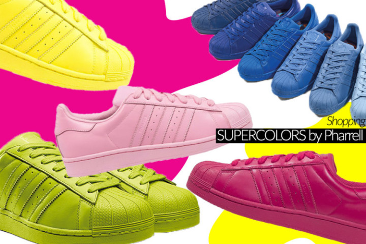 Supercolors di Adidas by Pharrell Williams, dove comprarle online