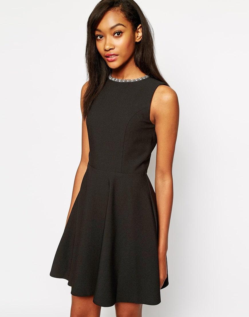 Vestiti Rosa E Neri » Vestito nero e scarpe cipria su abiti da sposa ... 7e768dbc4ee