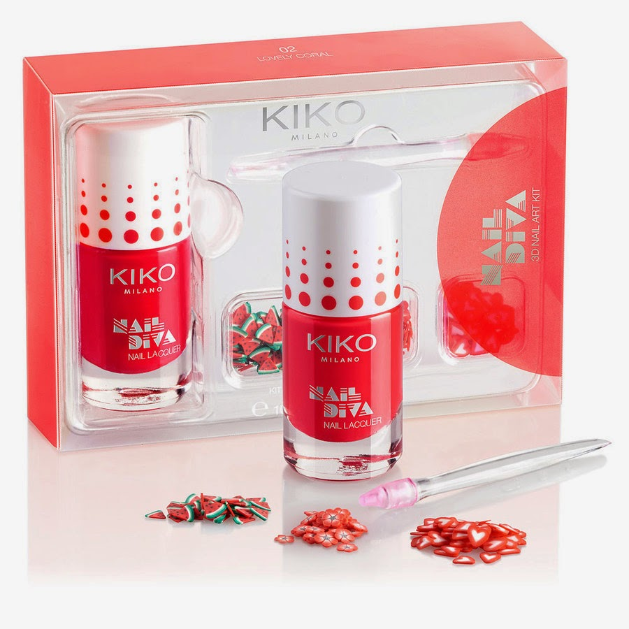 Nail Diva 3D Kit. Colore Loveely Coral (8,90 € sullo store online)