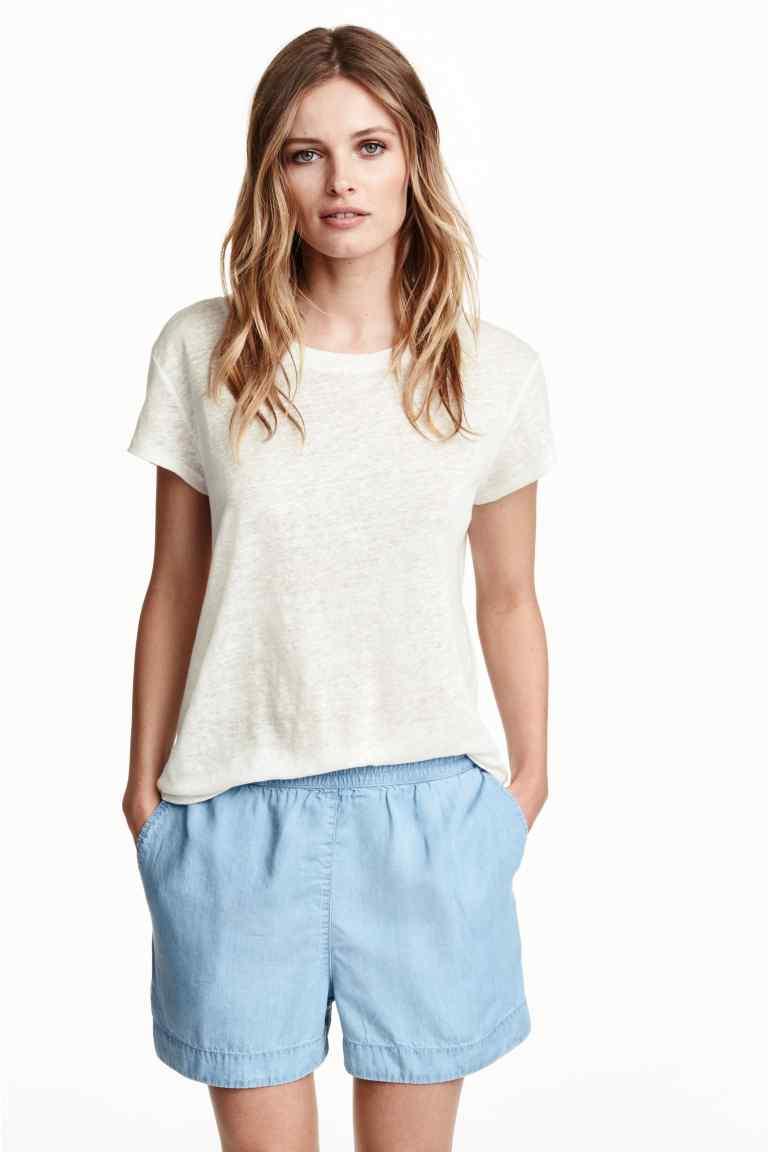 Shorts di jeans in lyocell, collezione conscious. Prezzo 14,99€