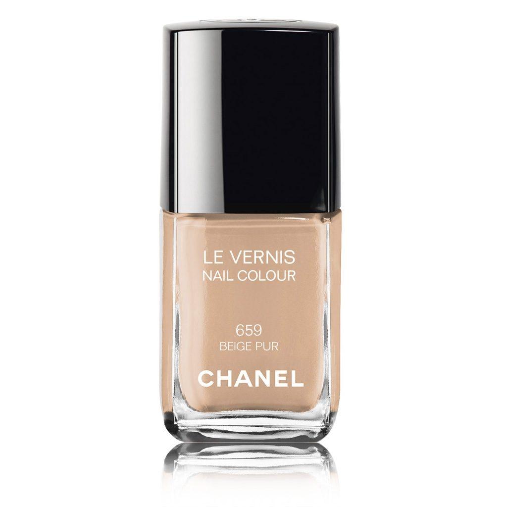 Smalto Chanel, tonalità 659 Beige Pur. Coprente e brillante