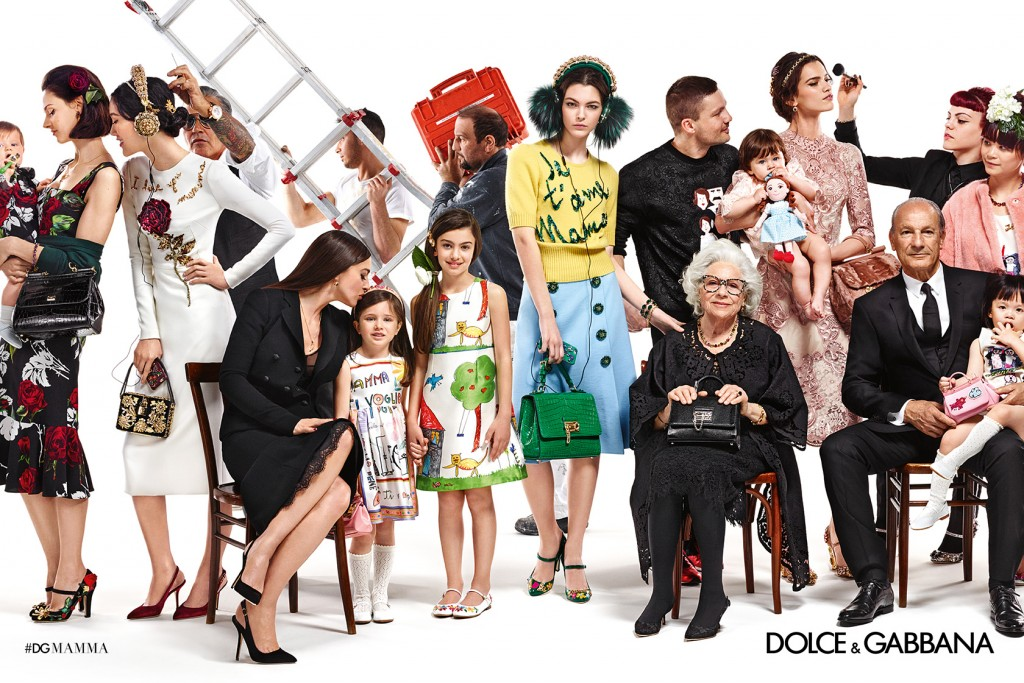 DOLCE E GABBANA CAMPAGNA PUBBLICITARIA AUTUNNO/INVERNO 2015/2016