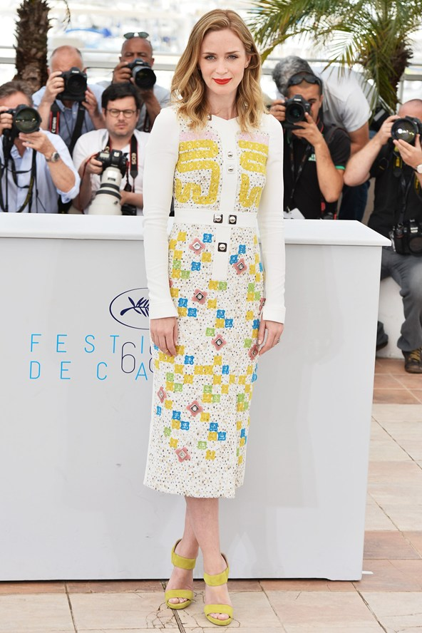 emily-blunt-Peter Pilotto autumnwinter 2015 dress