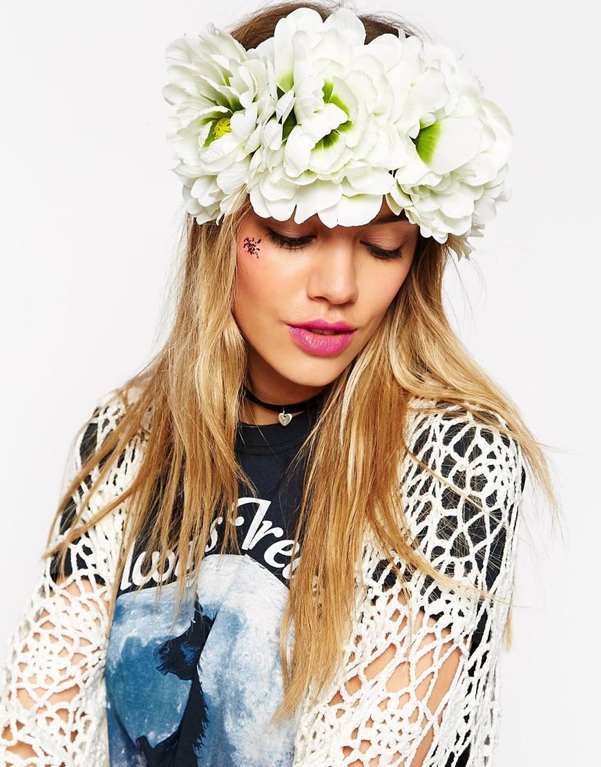 coroncina capelli fiori bianchi