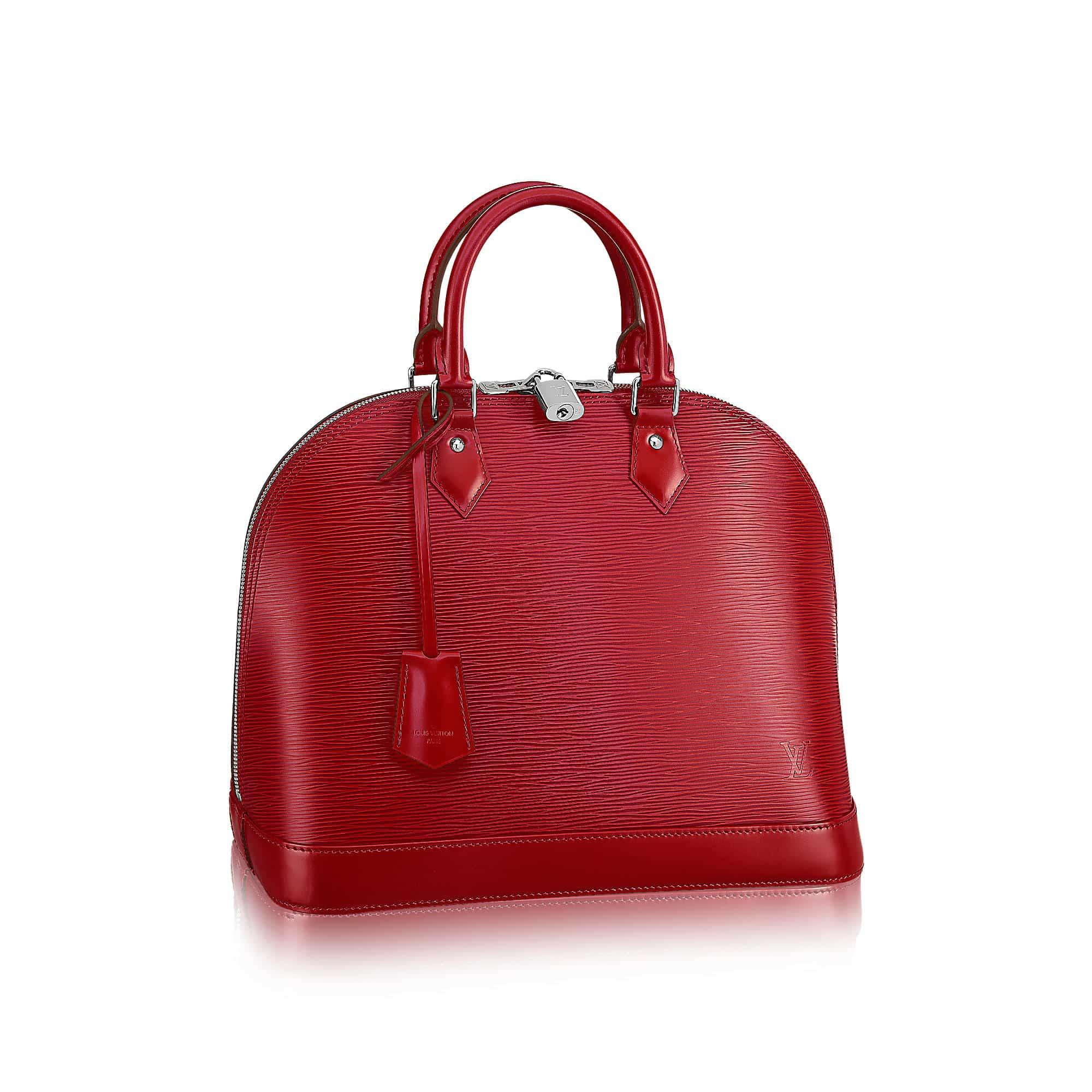 Alma mm epi leather rossa