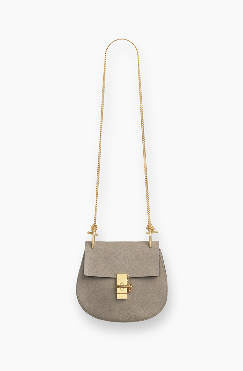 DREW SMALL BAG IN GRAINED LEATHER motty grey