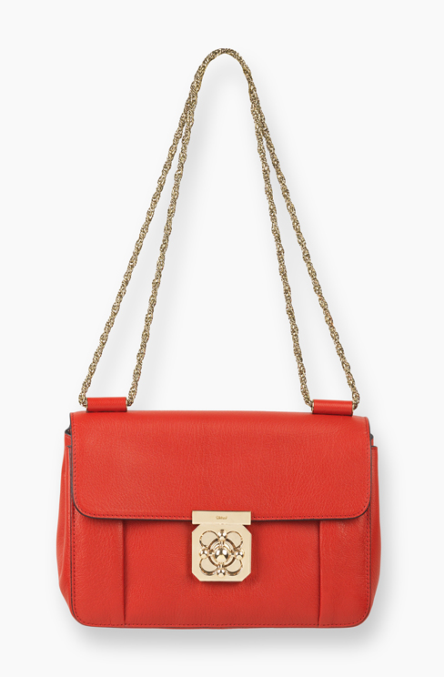 ELSIE BAG IN GRAINED GOATSKIN LEATHER paprika red