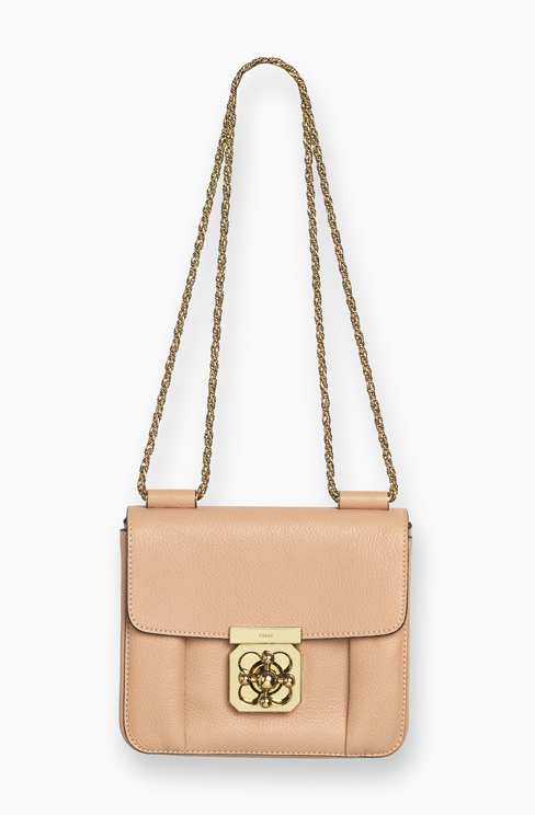 ELSIE SMALL BAG IN GRAINED LEATHER biscotti beige