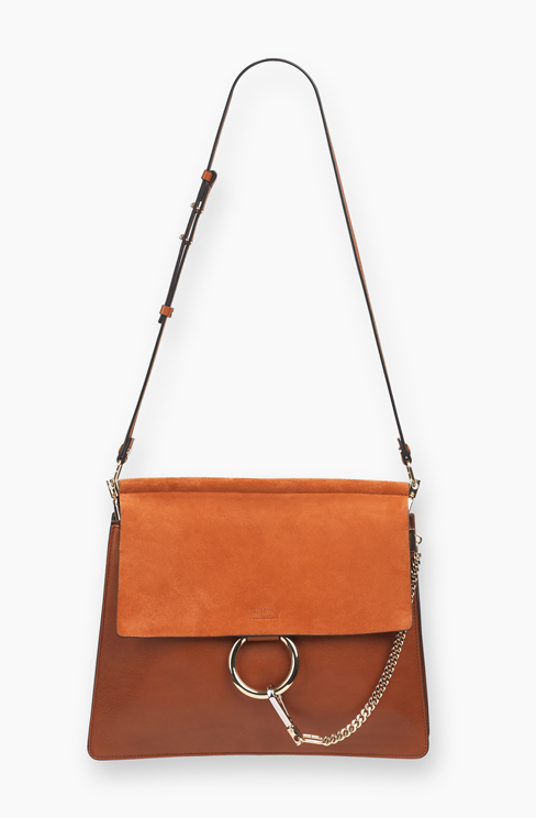 FAYE BAG IN SMOOTH CALFSKIN AND SUEDE CALFSKIN classic tobacco