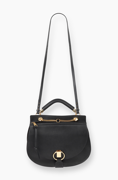 GOLDIE BAG IN SMOOTH CALFSKIN & SUEDE CALFSKIN black